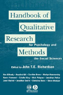 Handbook of Qualitative Research Methods for Psychology and the Social Sciences PDF