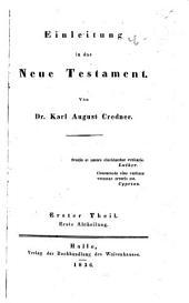 Einleitung in das Neue Testament: Band 1,Teil 2