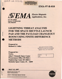 Lightning Threat Analysis for the Space Shuttle Launch Pad and the Payload Changeout Room Using Finite Difference Methods