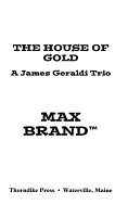 The House of Gold PDF