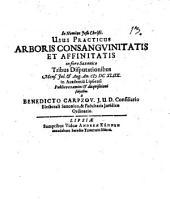 Usus Practicus Arboris Consanguinitatis Et Affinitatis in foro Saxonico