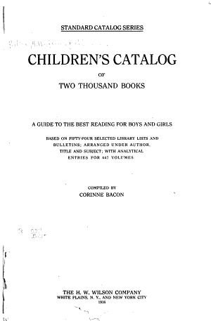 Children s Catalog of Two Thousand Books PDF