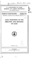 Lead Poisoning in the Smelting and Refining of Lead PDF