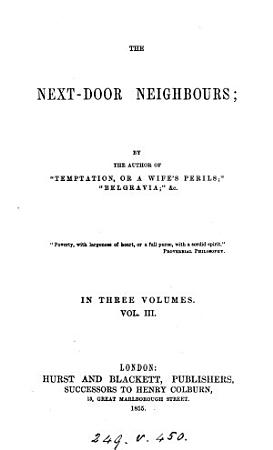 The next door neighbours  by the author of  Temptation   PDF