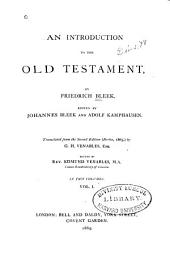 An Introduction to the Old Testament: Volume 1