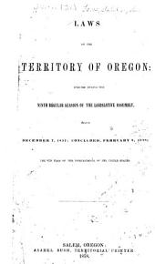 Laws of the Territory of Oregon ..