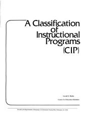 A Classification of Instructional Programs  CIP  PDF