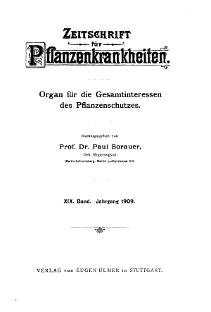 Zeitschrift f  r Pflanzenkrankheiten  Pflanzenpathologie  und Pflanzenschutz PDF