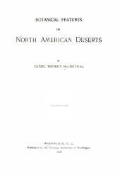 Botanical Features of North American Deserts