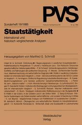 Staatstätigkeit: International und historisch vergleichende Analysen