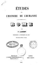 Etudes sur l'histoire de l'humanité par F. Laurent: Rome, Volume3