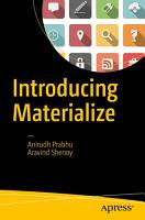 Introducing Materialize PDF