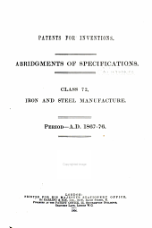 Patents for Inventions. Abridgments of Specifications: Volume 11