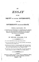 An Essay on the Equity of Divine Government and the Sovereignty of Divine Grace PDF