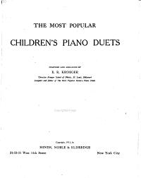 The Most Popular Children s Piano Duets PDF
