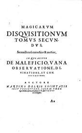 Disquisitiones Magicae: libri 6, Volume 2