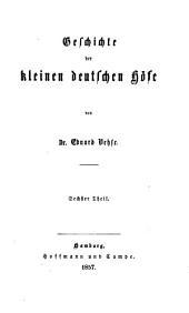 Geschichte der deutschen höfe seit der reformation: Band 40
