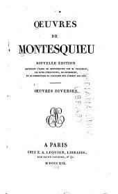 Oeuvres de Montesquieu: Volumes7à8
