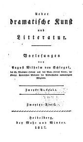 Ueber dramatische Kunst und Literatur: Band 2