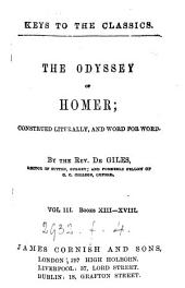The Odyssey; construed literally and word for word, by dr. Giles