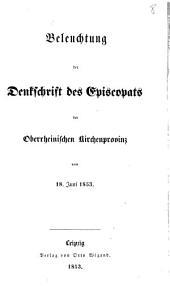 Beleuchtung der Denkschrift des Episcopats der Oberrheinischen Kirchenprovinz vom 18 Juni 1853