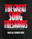 The Great Song Thesaurus PDF