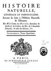 Histoire naturelle générale et particulière avec la description du Cabinet du Roy: Volume4