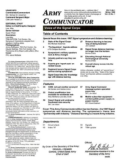 The Army Communicator PDF