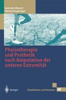 Physiotherapie und Prothetik nach Amputation der unteren Extremit  t PDF