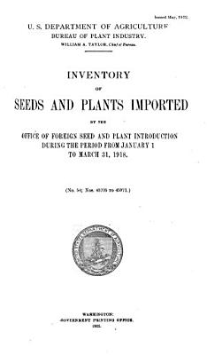 Inventory of Seeds and Plants Imported