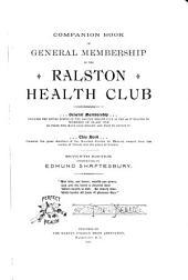 Companion Book of General Membership of the Ralston Health Club ...