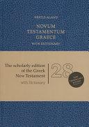 Novum Testamentum Graece Fl  Book PDF