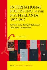 International Publishing in the Netherlands  1933 1945 PDF