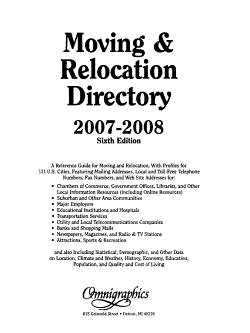 Moving   Relocation Sourcebook and Directory PDF