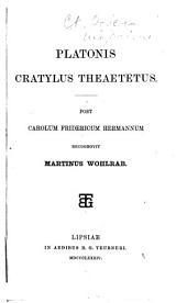 Platonis Cratylus Theaetetus