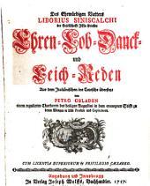"""""""Des Ehrwürdigen Vatters Liborius Siniscalchi ..."""" Ehren- Lob- Danck- und Leich-Reden"""