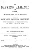 The Banking Almanac PDF