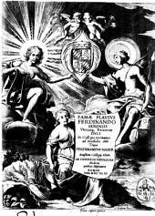 Famae plausus Ferdinando sereniss. vtriusque Bauariae duci in collegio Germanico ad modulos dati dum Ferdinandus Maier eiusdem collegij alum. De vniuersa theologia ibidem publice disputaret