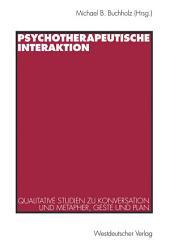 Psychotherapeutische Interaktion: Qualitative Studien zu Konversation und Metapher, Geste und Plan
