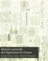 Histoire naturelle des Equisetum de France