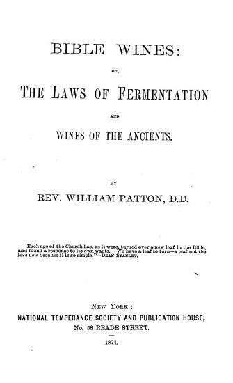 Bible Wines PDF