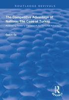 The Competitive Advantage of Nations  The Case of Turkey PDF
