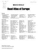Rand McNally Road Atlas of Europe