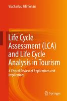 Life Cycle Assessment  LCA  and Life Cycle Analysis in Tourism PDF