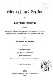 Biographisches Lexicon des Kaiserthums Österreich, enthaltend die Lebensskizzen der denkwürdigen Personen, welche 1750 bis 1850 im Kaiserstaate und in seinen Kronländern ... gelebt haben: Band 19