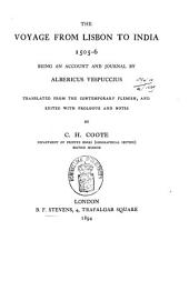 The Voyage from Lisbon to India, 1505-6: Being an Account and Journal by Albericus Vespuccius