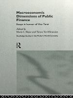 Macroeconomic Dimensions of Public Finance PDF