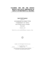 Clearing the air   the human rights and legal dimensions of China s environmental dilemma    PDF