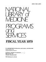 National Library of Medicine Programs and Services PDF