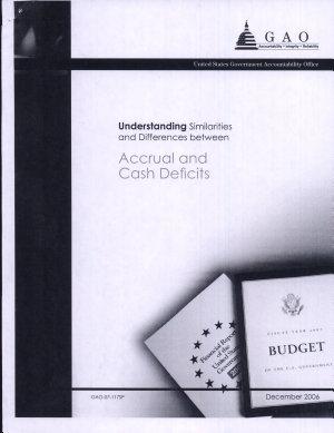 Understanding Similarities   Differences Between Accrual   Cash Deficits
